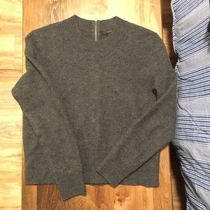J. Crew wool sweater with full zip up back